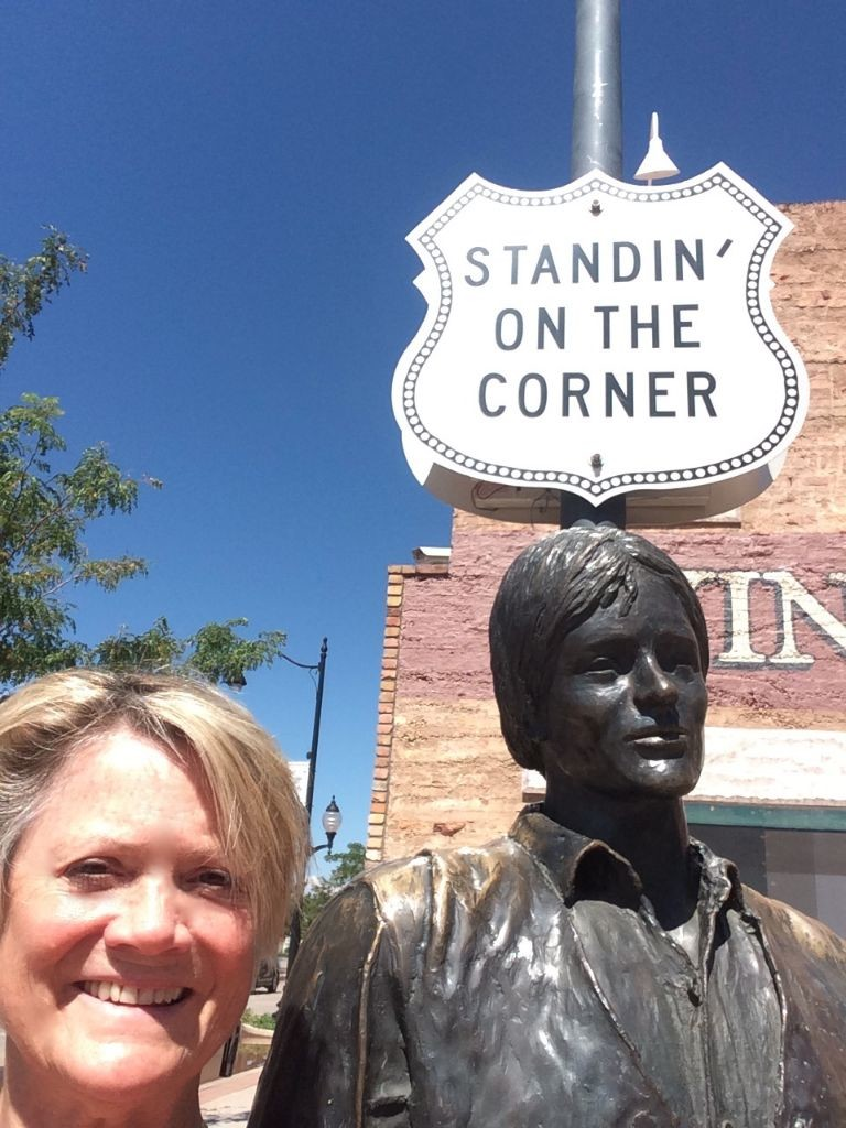 Standing on the corner!