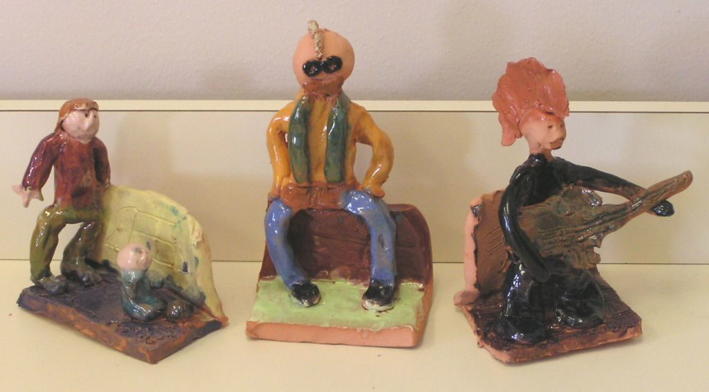 Clay self portraits